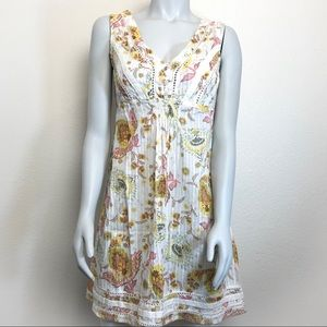 American Rag Dresses - AMERICAN RAG Sleeveless Lacey Floral Summer Dress